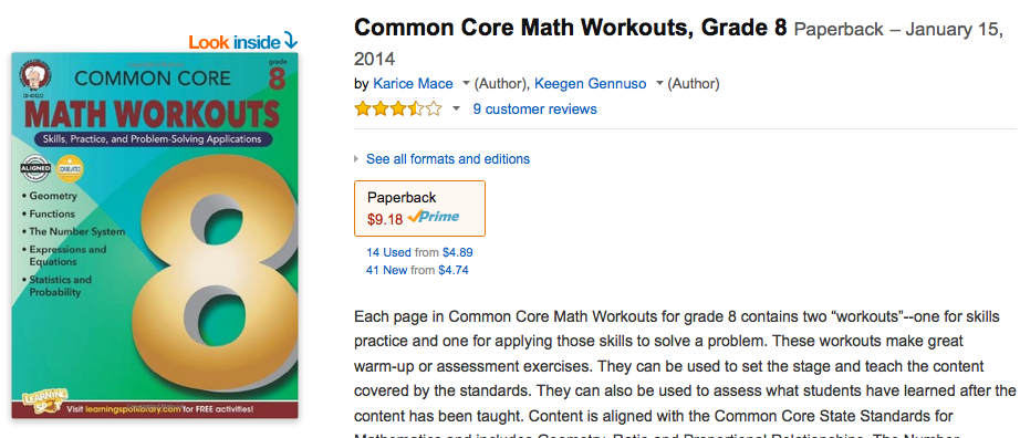 common core 8th grade math workbook