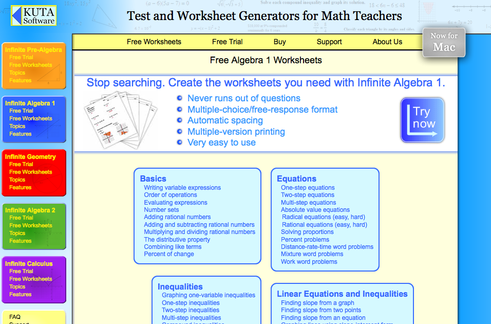 Top 6 Algebra I Worksheets StudentTutor Blog – Kuta Worksheets