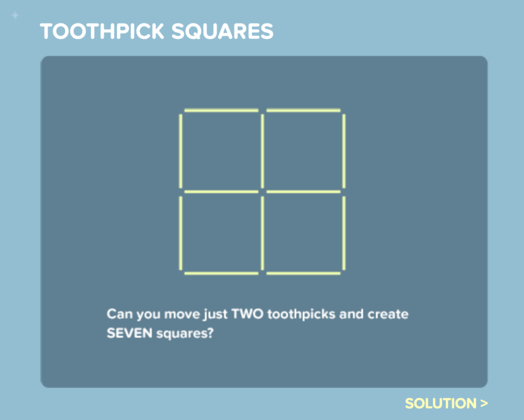 Cool Math 4 Kids Toothpick Squares