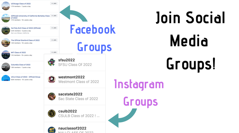 How to make friends in college using social media Facebook groups