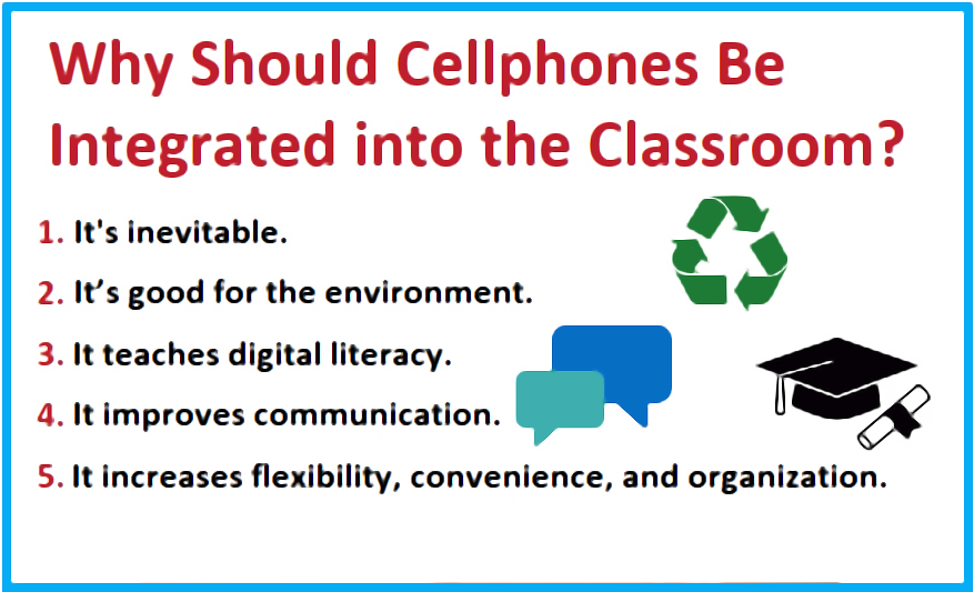 Five reasons why cellphones in school is a good idea