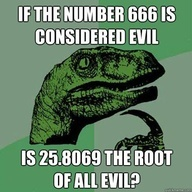 root of all evil math joke