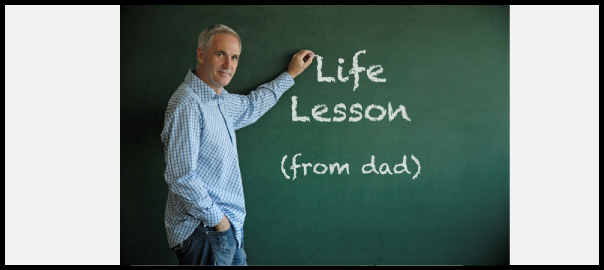 life lesson from dad image