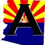 "AIMS ""A"" on Arizona State Flag"