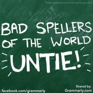 bad spellers of the world untie