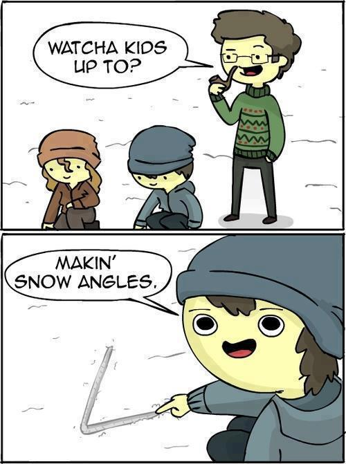 making snow angles joke