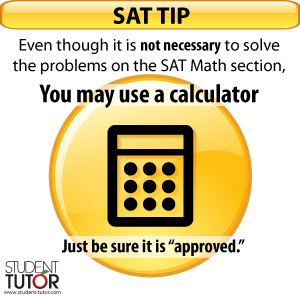 sat math section tip about calculators