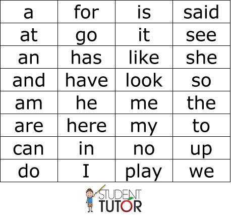 Printables Kindergarten Words kindergarten sight words for kindergarten