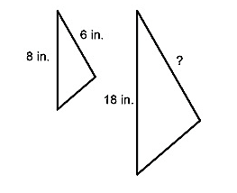 similar triangle problem on sat math section