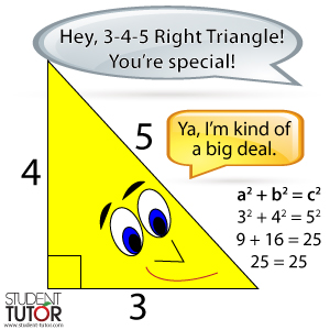 special 3-4-5 right triangle on sat math section