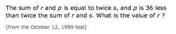 example PSAT math problem