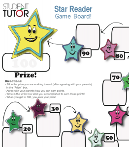 encourage reading and literacy with this motivating game board