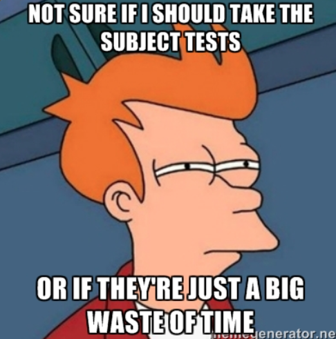What are the SAT Subject Tests Subject test meme