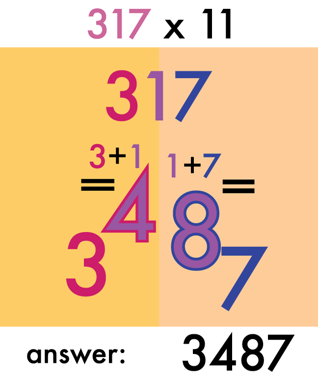 multiply three digits mental math