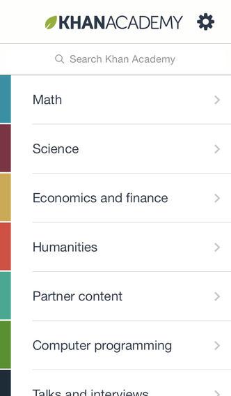 Khan Academy top math apps