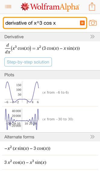 WolframAlpha top math apps