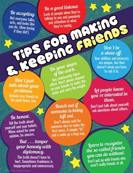 Tips for making friends transitioning from elementary school to middle school
