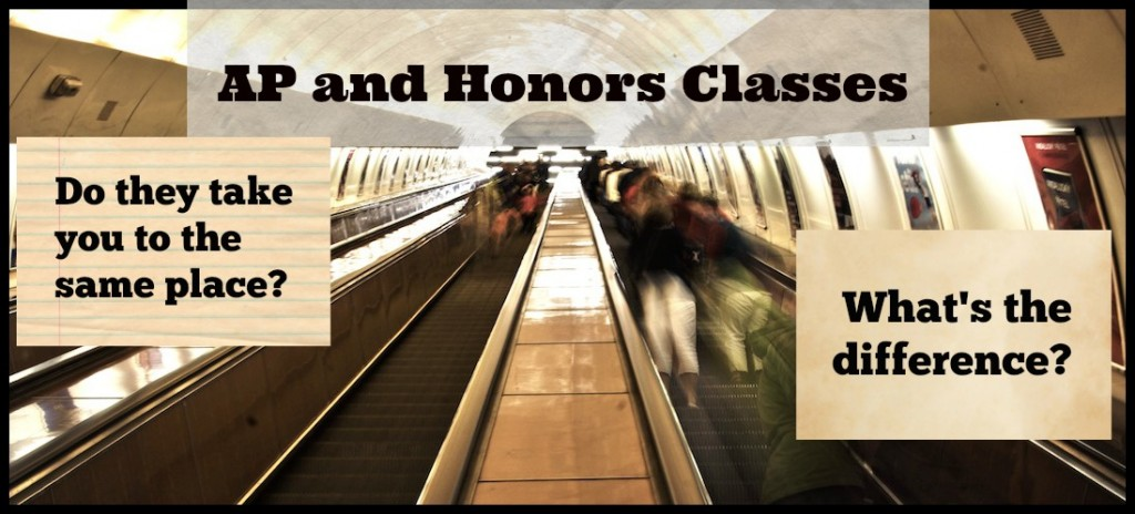 what are the differences between ap and honors classes student-tutor