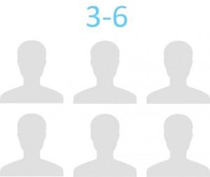 3 to 6