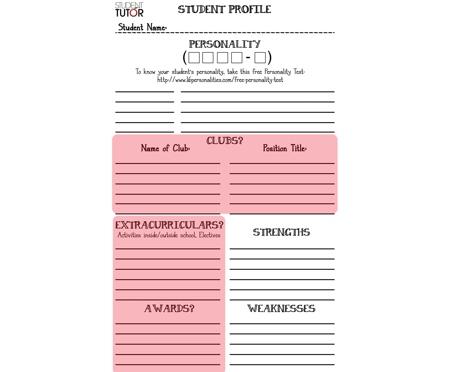 Extracurricular Profile Preview
