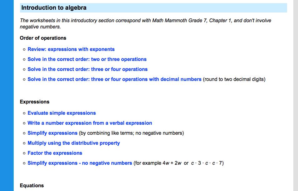 7th grade math worksheets problems games and more – Sat Prep Math Worksheets