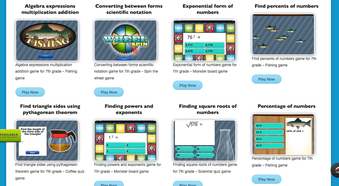 kids mathtv 7th grade math games