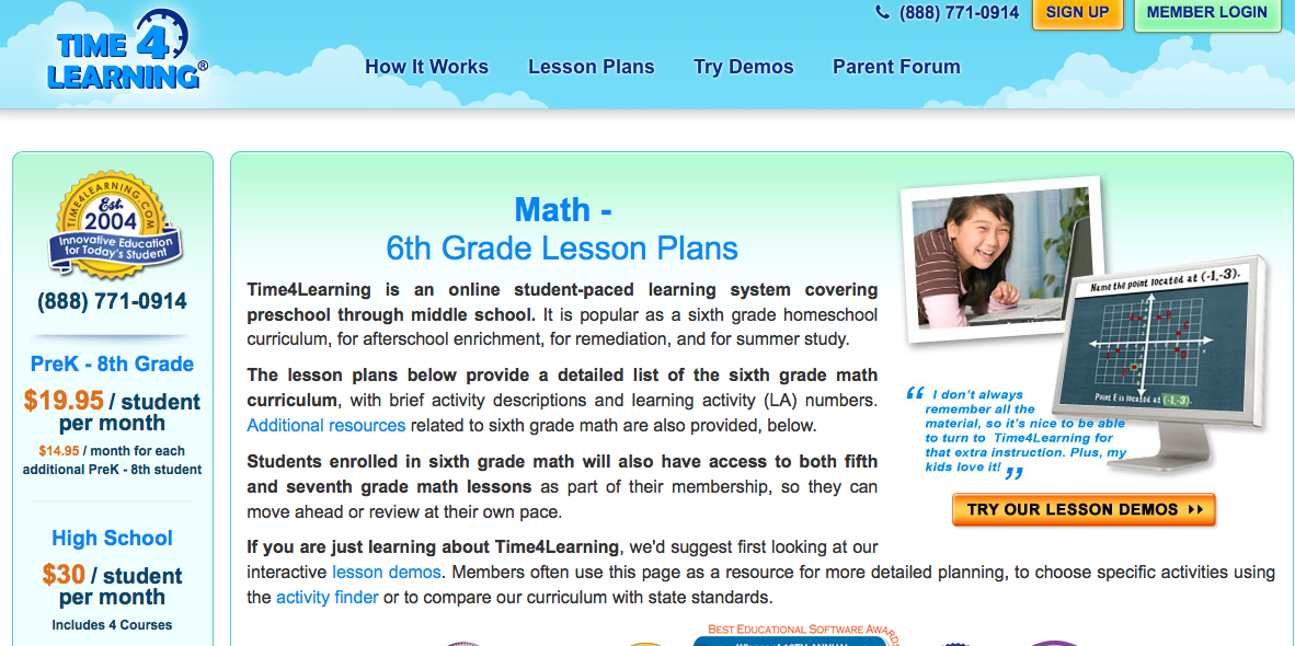6th grade math lesson plan