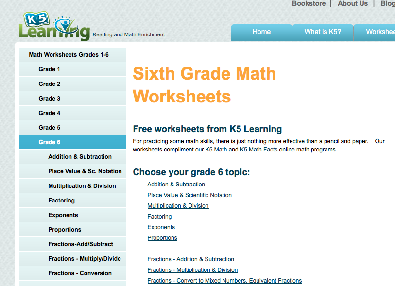 6th grade math worksheets games problems and more – Math Worksheet Website