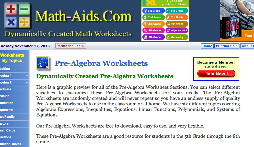 Top 10 PreAlgebra Worksheets StudentTutor Blog – Pre Algebra Fractions Worksheets