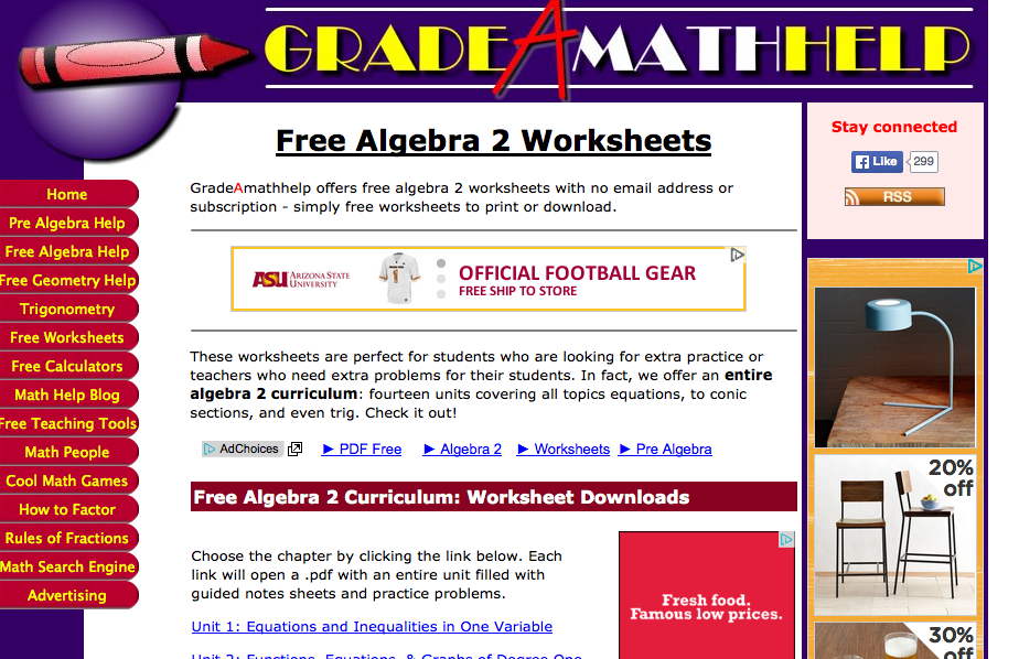 Top 6 Places for Algebra II Worksheets and Algebra II Homework – Math Help Worksheets