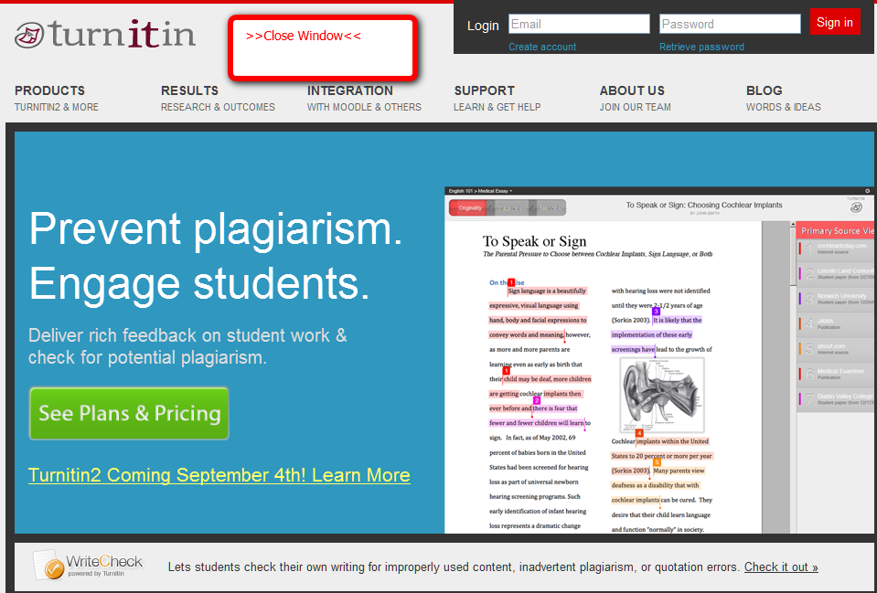 blog students cheat plagiarism checkers