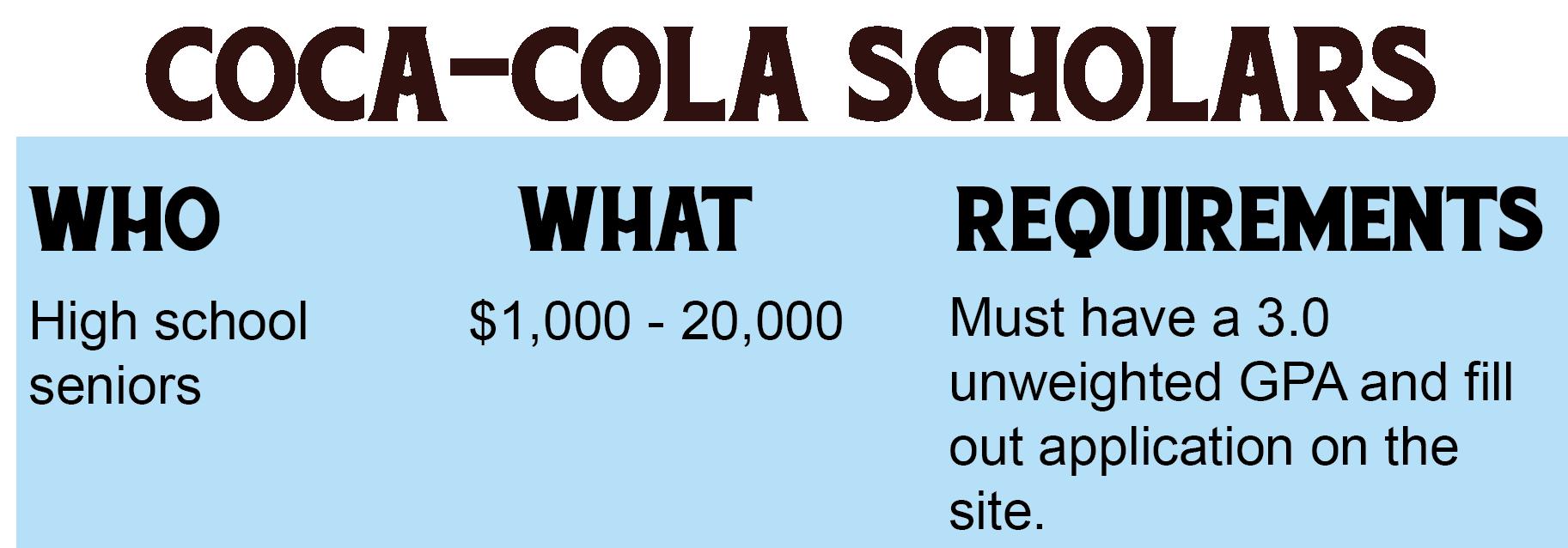 Coca-Cola Scholars Scholarship