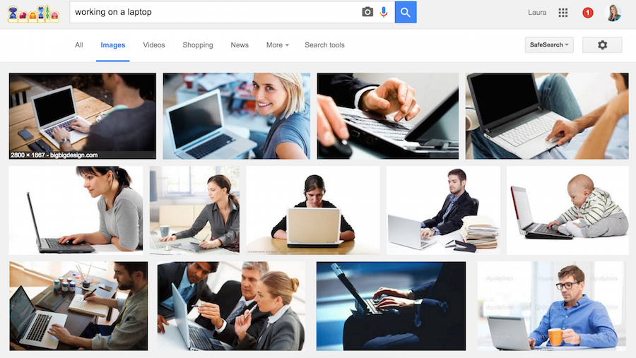 stockphoto search on google