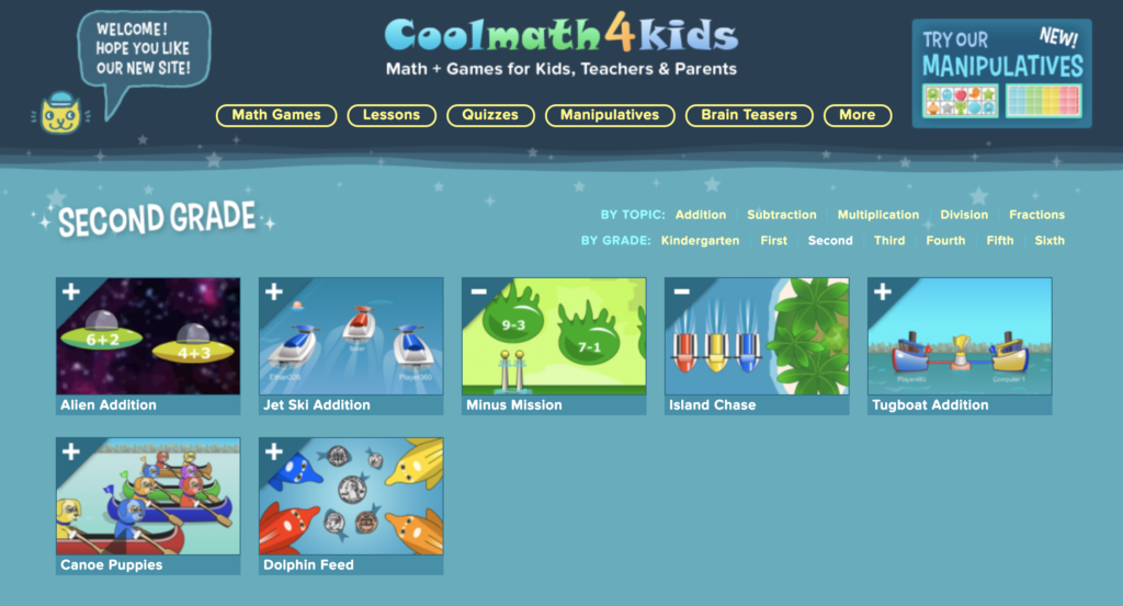Cool Math 4 Kids - Math Games
