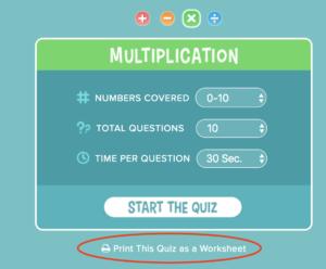 Math 4 Kids - Print math worksheets