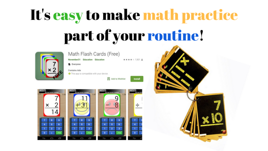 make math practice part of your routine with math flashcards how to be good at math
