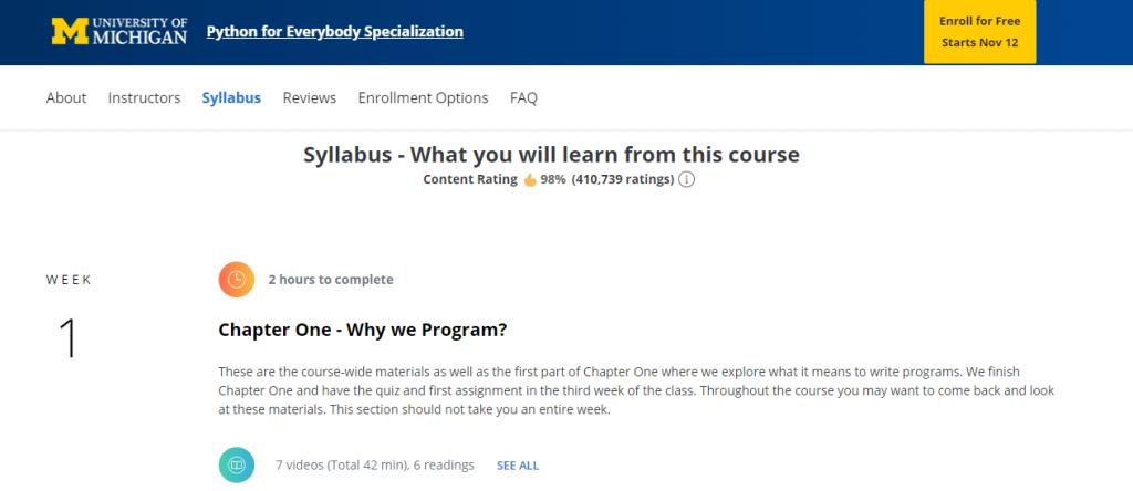 Coding Websites Coursera