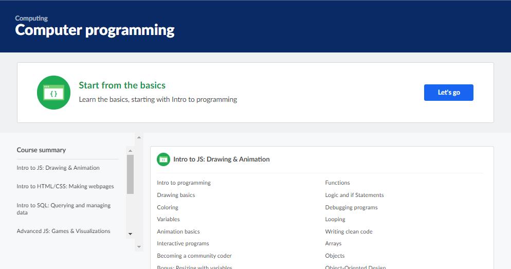 Coding Websites Khan Academy