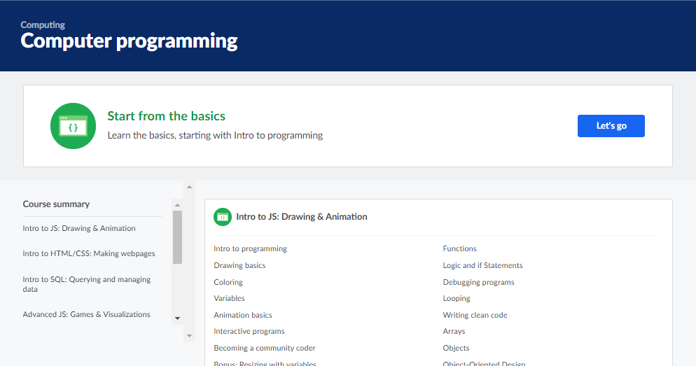 Coding Classes Online Khan Academy