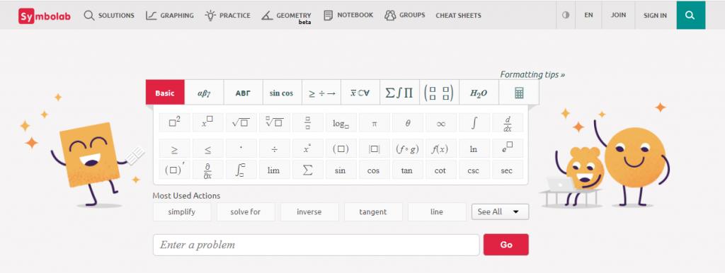 Math Help Websites Symbolab