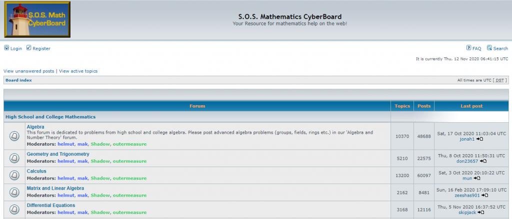 S.O.S. Mathematics CyberBoard